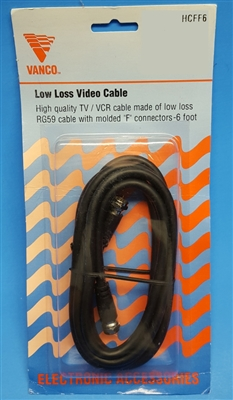 Low Loss Video Cable With Molded Quot F Quot Connectors 6 Feet